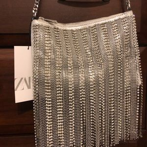 Zara Gemmed Metallic Bag